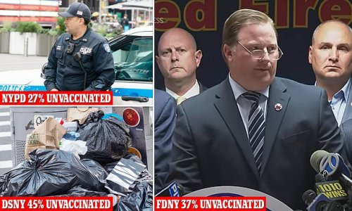 NYPD, FDNY, and sanitation face unpaid leave if they refused vaccine