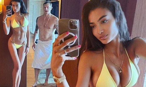 Kelly Gale dons 'birthday suit' bikini on 26th birthday