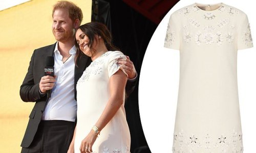 Meghan Markle dons $4,500 Valentino dress and $16,500 Cartier earrings