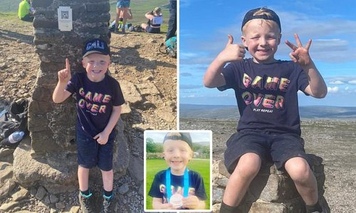 Boy, 5, becomes youngest to complete hike up three mountains in a day