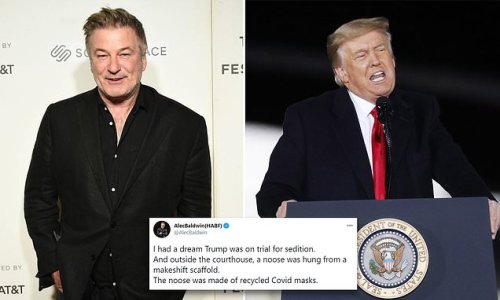 Alec Baldwin reveals he dreamed Trump was was on trial for sedition