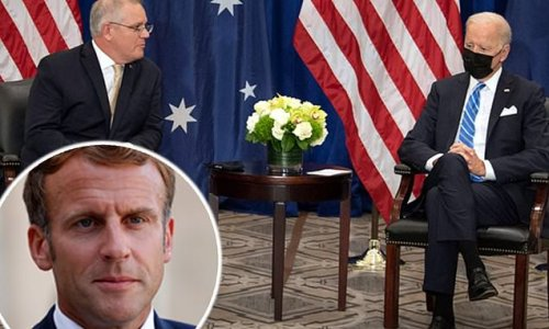 Biden holds first sit down meeting with Australian PM as France rages