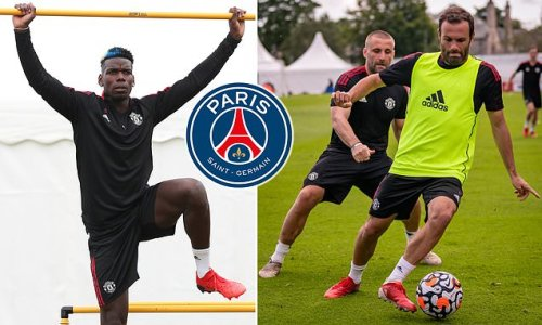 Paul Pogba joins United teammates at their training camp in Scotland