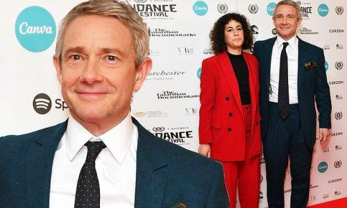 Martin Freeman looks dapper on date night with partner Rachel Mariam
