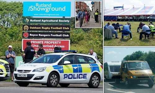 Yobs loot shops and refuse to pay for food at traveller festival
