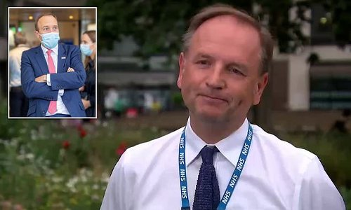NHS chief squirms when asked if he thinks Hancock is 'hopeless'