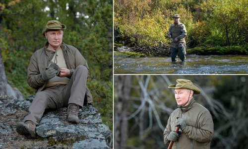 Kremlin issues photos of Putin on hunting break with defence minister