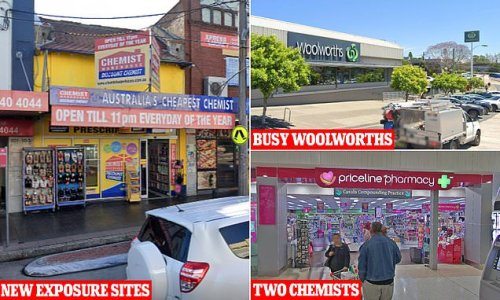 Urgent NSW Health alert announcing new exposure sites across Sydney