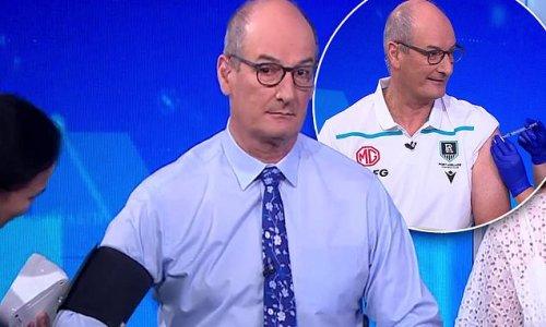 David Koch gets blood pressure result and coronavirus vaccine on TV