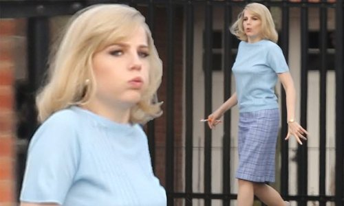 EXCLUSIVE: Lucy Boynton seen on set of The Ipcress File remake