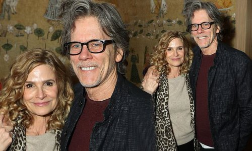 Kevin Bacon and wife Kyra Sedgwick look cosy at screening of Belfast