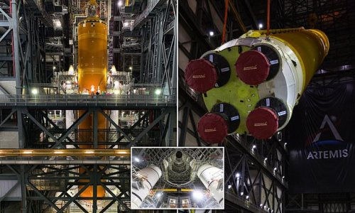 NASA finishes assembling its $18.6BILLION Space Launch System
