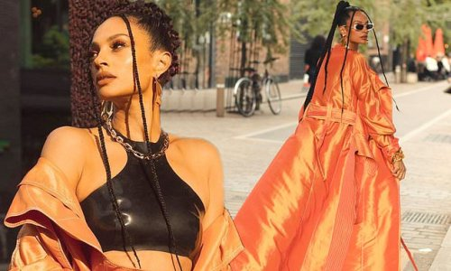 Alesha Dixon sets pulses racing in orange trench coat amid new music