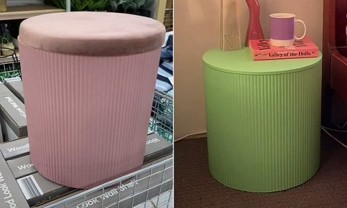 Shopper's simple hack for turning a Kmart buy into a bedside table