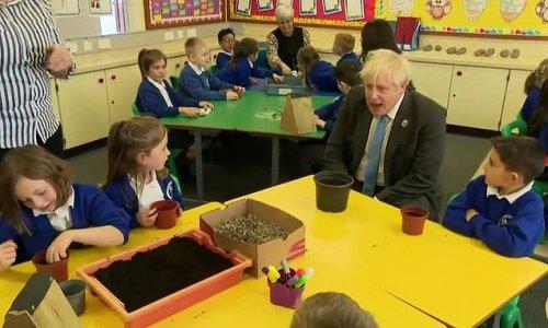 Boris Johnson asks year three pupils if bug hotel comes with mini bar