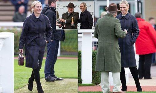 Zara Tindall attends the opening meeting of Cheltenham racecourse