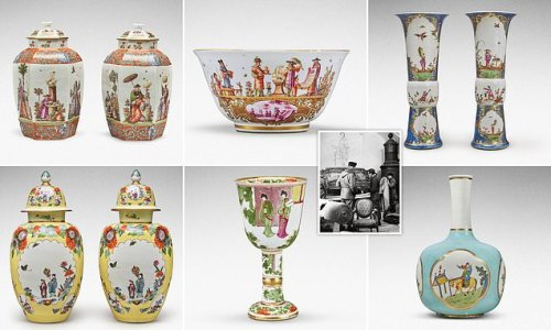 Collection of porcelain found by the Monuments Men sells for £10m