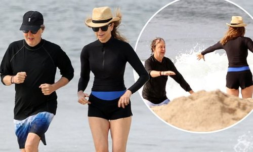 Paul McCartney gets helping hand out of sea from wife in The Hamptons