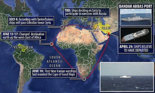 Officials: Iranian warships change course to move up African coast