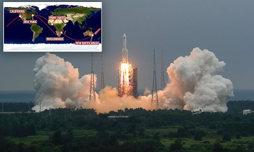 Massive chunk of China's rocket is set to crash back to Earth TONIGHT