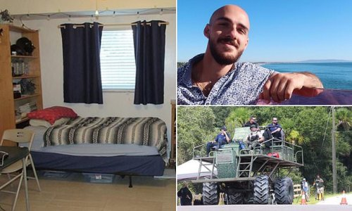 PICTURED: Inside the bedroom of Brian Laundrie as search continues