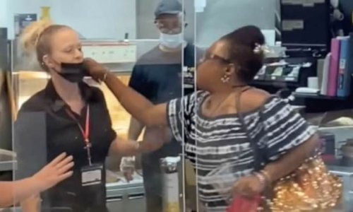 Seething customer rains blows down on two McDonald's workers in Ohio