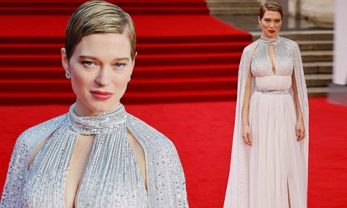 No Time To Die: Lea Seydoux showcases her ample assets in a pink dress