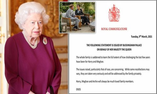 Queen breaks her silence on Harry and Meghan