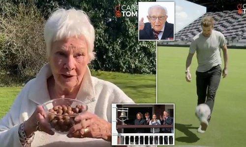 Dame Judi Dench eats 100 Maltesers for Captain Tom Moore 100 challenge