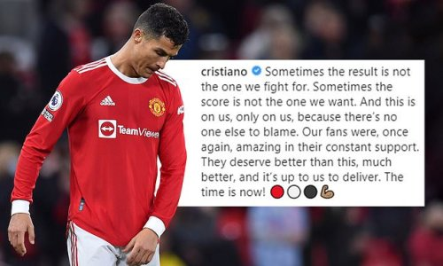 Ronaldo insists Man United fans 'deserve much better than this'
