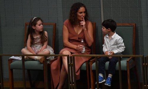 Josh Frydenberg's children struggle to contain boredom during Budget