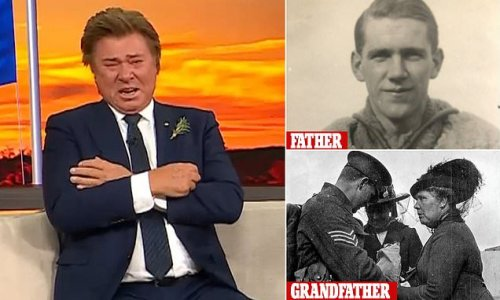 Richard Wilkins breaks down over his family's Anzac Day legacy
