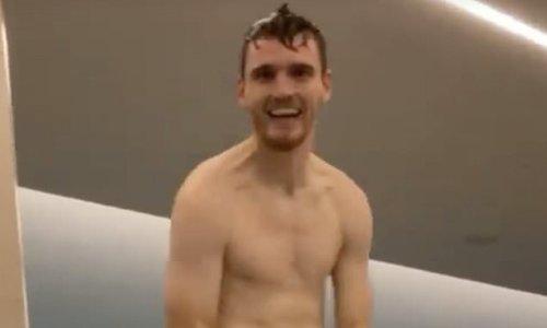 Jordan Henderson mocks Andy Robertson for wearing beige underwear