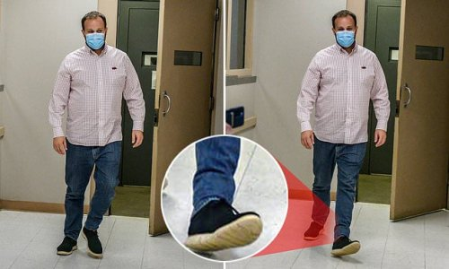 Josh Duggar is seen wearing ANKLE MONITOR as he is released from jail