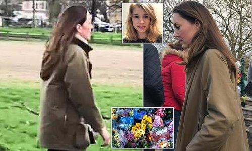 Maskless Kate Middleton pays emotional visit to Sarah Everard memorial
