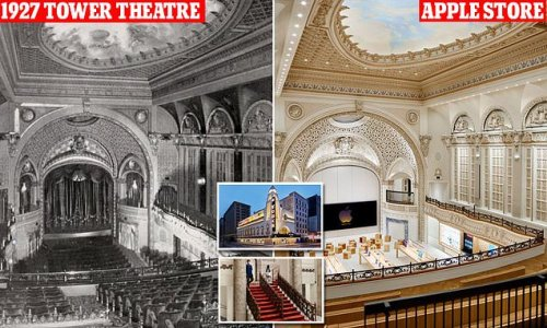 Apple restores 1920s Los Angeles Tower Theatre into a new store