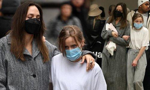 Angelina Jolie stuns London shoppers