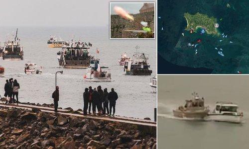 Victoire! Royal Navy ships send French fishing flotilla scurrying back