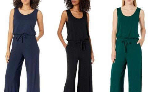 This comfy jumpsuit is an effortless option for dressing up or down