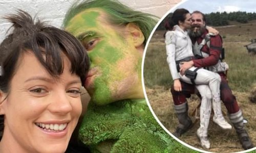 David Harbour cosies up to 'wives' Lily Allen and Rachel Weisz
