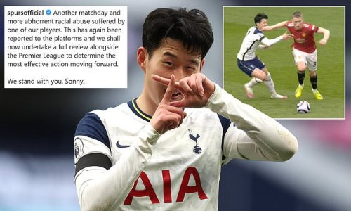 Spurs hit back at 'ABHORRENT' abuse aimed at Son on social media