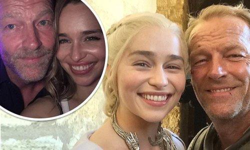 Emilia Clarke shares throwback pics of her and Iain Glen