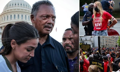 Jesse Jackson among 204 clergy and activists arrested at DC rally