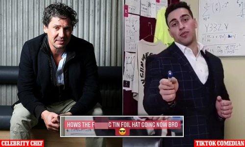 Colin Fassnidge reacts to TikTok guy Jon-Bernard Kairouz in Covid ward