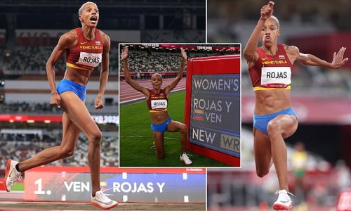 Rojas breaks world record with final jump of Tokyo 2020