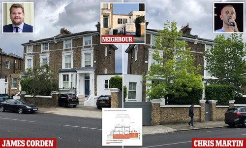 James Corden in planning battle with neighbour over basement extension