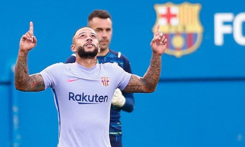 Memphis Depay scores debut goal for Barcelona from the penalty spot