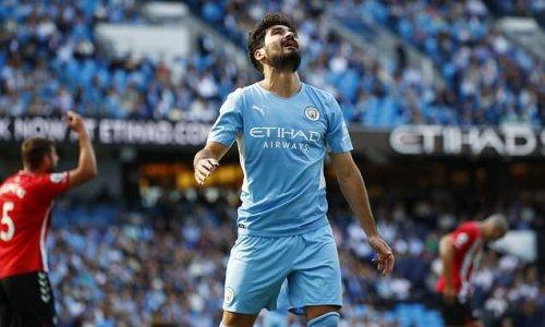 Ilkay Gundogan joins Manchester City's growing injury list