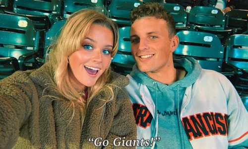 Reese Witherspoon's daughter Ava Phillippe, 21, poses with her beau