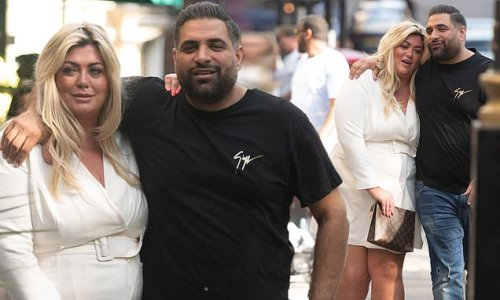 Gemma Collins cosies up to a male pal after enjoying a boozy brunch